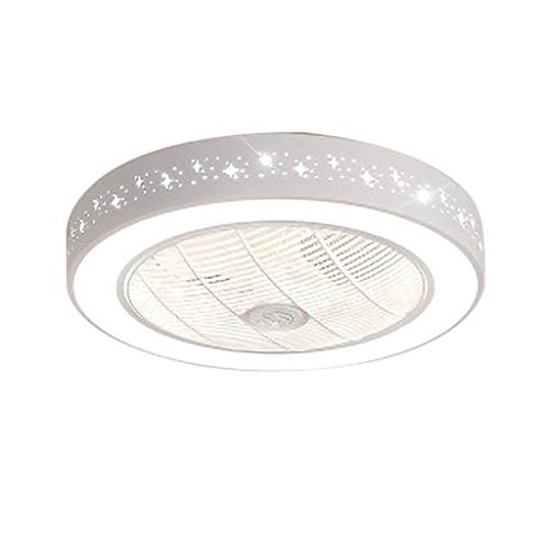 Ceiling Fan Light Ventilatore A Soffitto Invisibile for Camera da Letto con Telecomando Conversione A Tre Colori Ventilatore A LED Invisibile for Lampadario for Soggiorno Sala da Pranzo for Bambini