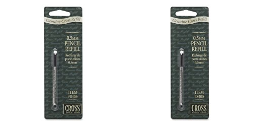 Cross Pencil Lead & Eraser, One Refill with 12 Leads and Eraser, 2 Packs