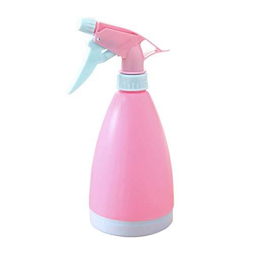 Metikkeer Botella de plástico con pulverizador de agua, botella de colores, para limpieza, jardinería, alimentación, 500 ml