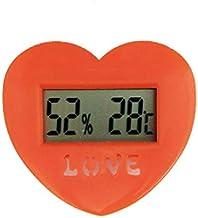 Termómetro Higrómetro Termómetro Higrómetro Temperatura Electrónica Monitor de humedad para oficina Celsius Thermo-higrómetro en forma de corazón Digital Termohigrómetro ( Color : Red )