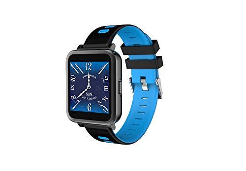 PNCS Pulsera de Actividad Indicador de Alarma de Ritmo cardíaco Bluetooth con información de Reloj de Paso de Reloj Deportivo Adecuado para Regalos de Viaje al Aire Libre,Blue