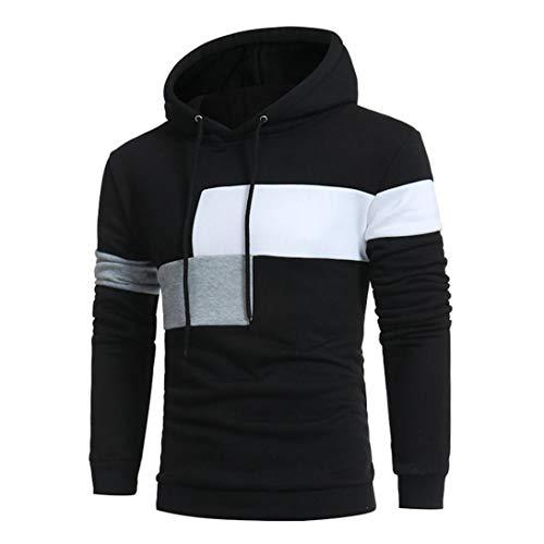 ITISME Homme Sweat NoëL Top Automne Hiver Printemps Manches Longues à Capuche Couture Couleur Manteau Veste Vestes Sport Tops Tee Outwear Blouse Sweat