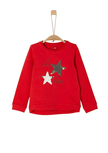 s.Oliver Mädchen 58.911.41.2257 Sweatshirt, Rot (red 3123), 128 (Herstellergröße:128/134/REG)