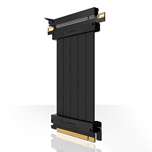 DE2-EZDIY-FAB [20 cm] PCIE 3.0 16 cables de alta velocidad PCI Express, tarjeta de extensión GPU, conector recto