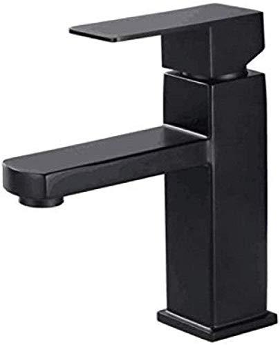 Grifo de estilo nórdico, cuadrado 304 de pintura negra, utilizado en baño y aseo.