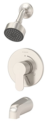 Symmons S-6702-TRM-STN Identity 1-Handle Tub and Shower Faucet Trim Kit with Diverter Lever (Valve Not Included), Satin Nickel