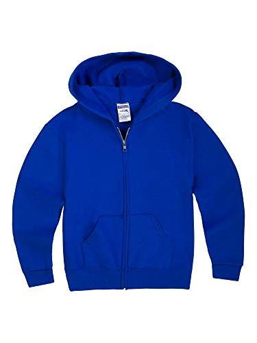 Jerzees Youth Full Zip Hooded Sweatshirt, Royal, Small