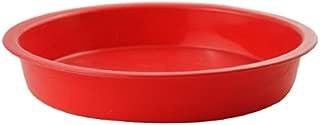 AYAMAYA 7 inch Food-Grade Silicone Round Cake Pan Fondant Cake Mold Baking Pan 7.3''1'' Red