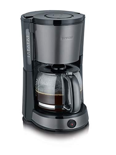 SEVERIN KA 9543 Kaffeemaschine (Für gemahlenen Filterkaffee, 10 Tassen, Inkl. Glaskanne) edelstahl/schwarz
