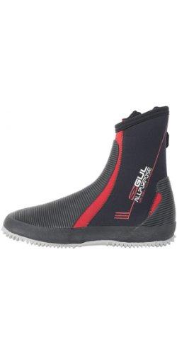 GUL Allzweck-5mm-Stiefel in Schwarz und Rot - Unisex - Neopren-Neoprenanzug mit hohem Griff für alle Wassersportarten