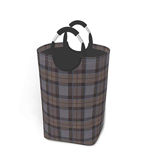Outlander Fraser - Cesta de almacenamiento para ropa sucia, diseño a cuadros, tamaño pequeño, grande, plegable, para ropa sucia, juguetes, libros