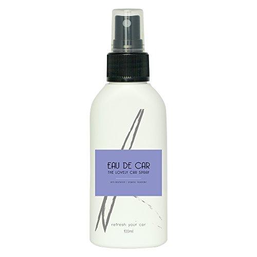 Auto Duft Spray EAU DE CAR | Lavendel Duft in praktischer Sprayflasche | BIO Auto Lufterfrischer mit Lavendel Öl | Alternative zum Duftbaum fürs Auto