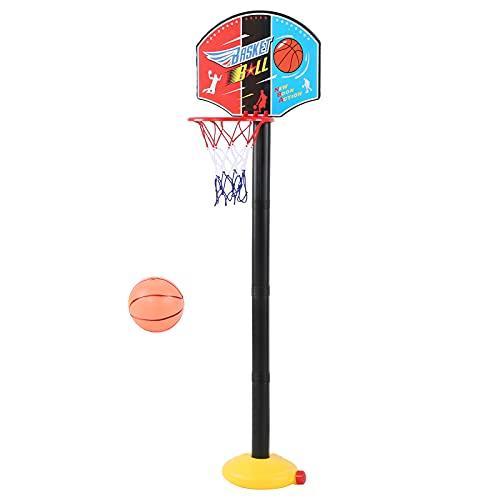 Juguete de Soporte de aro de Baloncesto, tamaño Compacto, Altura Ajustable, Juego de Baloncesto para niños, Juguete Deportivo de Baloncesto para reuniones Familiares