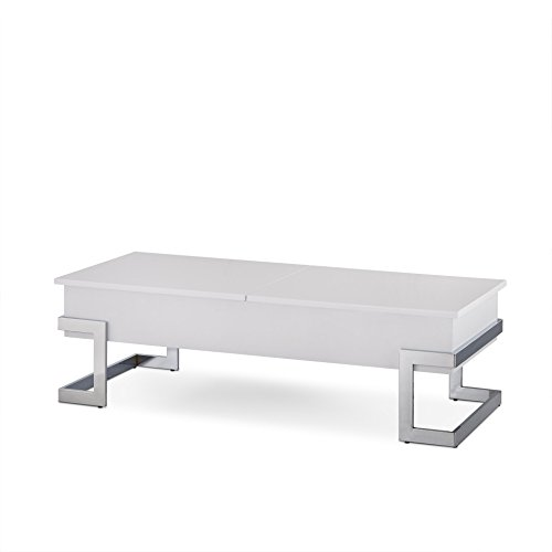 ACME FURNITURE AC-81850 Coffee Tables, One Size, White & Chrome