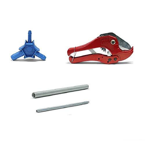 Calibrador profesional + muelle de flexión interior y exterior + tijeras de tubo para tubos de 16 x 2 mm