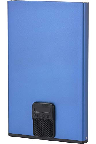 Cartera ALU FIT 201 - Slide-UP Case | Protector RFID Y NFC (Azul)