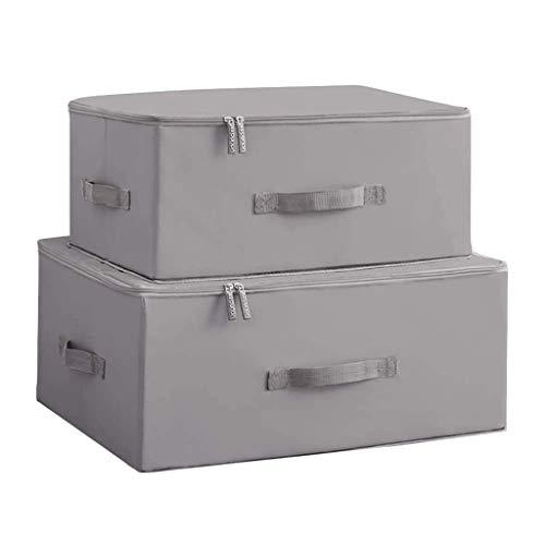 Cubos de almacenamiento plegables Cajas de cubos con tapa - Caja de almacenamiento Organizador de armario de cesta de cubo Paquete de...