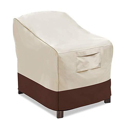LJWLZFVT Cubierta Impermeable para Sofa de Jardin, al Aire Libre, Patio,Cubierta de Muebles de Exterior 600D Funda de sofá al Aire Libre(94x76x79cm)-Khaki/Beige 94x76x79cm