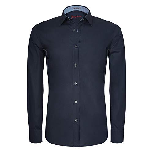 Signum - Hemd mit Stretch - Unihemd - Langarm - Slim Fit