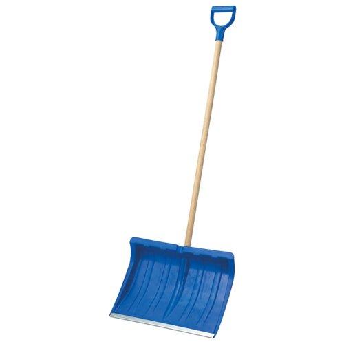 Turk Schneeschieber mit Alukante, blau, 50cm Kunststoff mit Stiel 48505