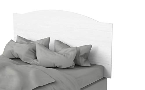 Muebles Pitarch Valentina Cabecero, Aglomerado de partículas y melanina de Alta Densidad, Blanco Atlas, 80 x 160 x 1.6 cm