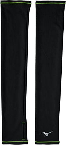 [ミズノ] ランニングウェア ブレスサーモ ランニングアームカバー J2JY7503 ブラック×セーフティイエロー 日本 S (日本サイズS相当)