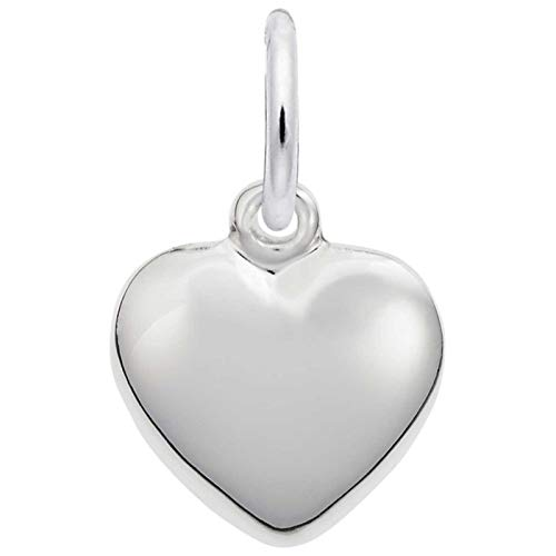 Hot Sale Rembrandt Charms Heart Charm, 14K White Gold