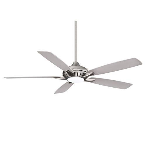 Minka-Aire F1001-BN/SL Dyno XL 60 Inch Five Blade Indoor Smart Ceiling Fan with DC Motor and LED Light in Brushed Nickel Finish works with Alexa, Nest, Ecobee, Google Home and iOS/Android App