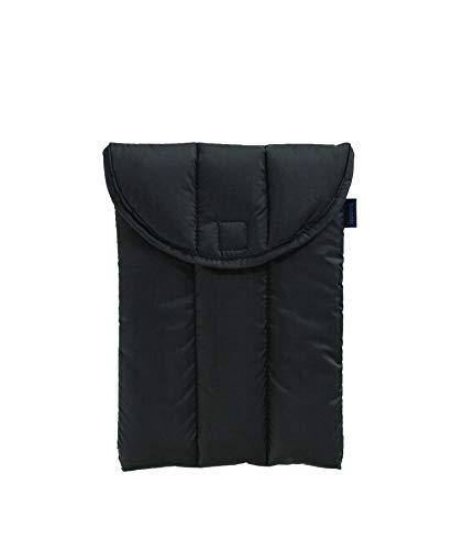 BAGGU Puffy Laptop Sleeve, Ripstop Nylon 13' Electronics Sleeve, Black Daisy