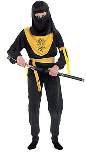 Fiori Paolo- Dragon Ninja Costume Bambino, Nero, M (5-7 anni), 61046.M