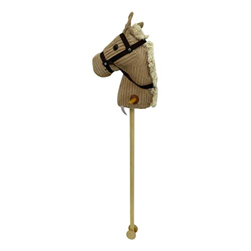 """Sweety-Toys 6809 """" BEIGE Sugar """" CORD COTTON hobby horse with sounds"""
