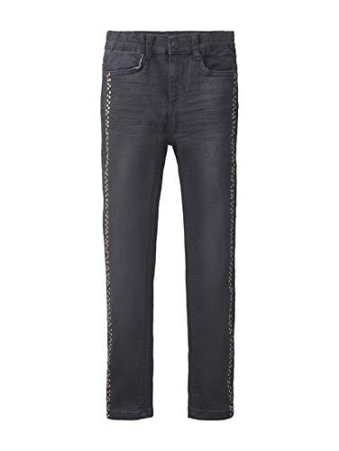 TOM TAILOR Mädchen Jeanshosen Jeans mit Punkte-Print Black Denim|Black,104