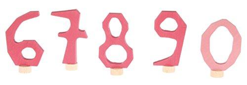 Grimms Spiel und Holz Design Grimm's Plug décoratif Chiffres 6-9 et 0 Rose