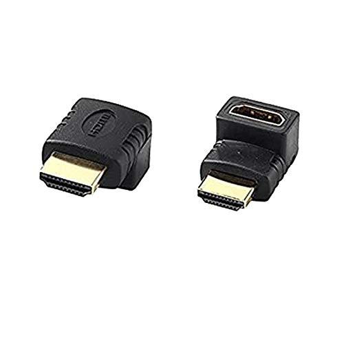 『HDMIケーブル変換アダプタ オス/メス 90度+HDMIアダプタ270度(L型下+上 2 pc set)』のトップ画像