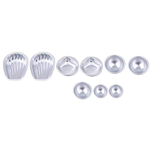 Toporchid Baignoire De Bain Baignoire Moules Alliage D'Aluminium Balles De Bain Savons Artisanaux Cake Pan De Cuisson du Moule De La Pâtisserie Outil De Fabrication (Style1)