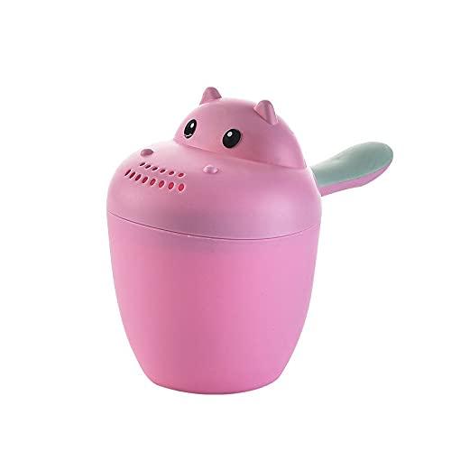 XKMY Taza de champú con diseño de dibujos animados y animales para niños, cuchara de ducha, baño, agua y cabeza de natación, botella de riego para el cabello (color: estilo 3 rojo)