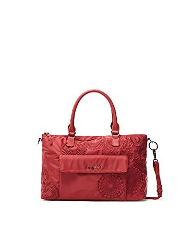 Desigual BOLS_MANDARALA Padua PC, Mano Bag para Mujer, Rojo, Einheitsgröße
