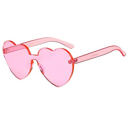 Sharplace Retro Sonnenbrille Herzform Kunststoff Rahmen Herzbrille - Rosa, wie beschrieben