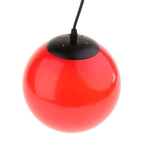 perfk 2 Pcs Lampe Suspension Abat-Jour Plafonnier Boule Applique Murale Lustre Vintage Retro Industrielle - Rouge 1