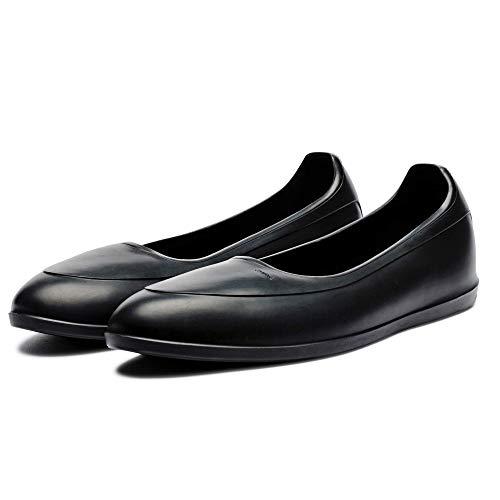 Swims® Oryginalne klasyczne galoschen – stylowe ochraniacze na buty do stylowej ochrony butów przed deszczem, śniegiem i błotem, czarny - czarny - large