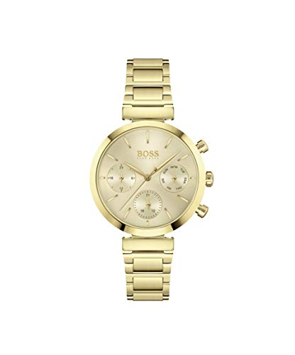 Hugo Boss Damen Analog Quarz Uhr mit Edelstahl Armband 1502532