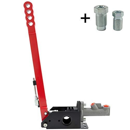Freno de Mano hidráulico de pie con 430 mm de Longitud de Palanca. Color: Rojo.