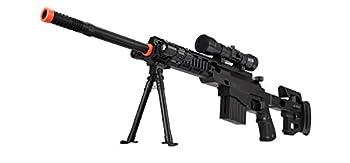 UKARMS CQB P1402 Spring Airsoft Tactical Sniper Rifle Gun   Folding Stock + Flashlight + Bipod