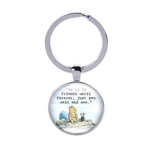 HJUEY Wir Werden Freunde Sein, Bis Für Immer Schlüsselbund Freundschaftsgeschenk Winnie The Pooh Ferkel Geschenk Für Freund