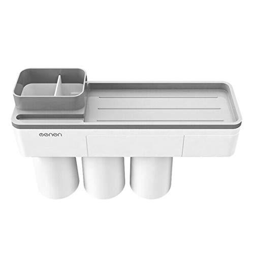 La adsorción de la Copa del cepillo de dientes pasta titular de la Filia Aseo Baño Tendedero, Cuarto de baño cepillo de dientes Punch-teléfono gratuito del cepillo de dientes de rack, Gris, 3 Copas