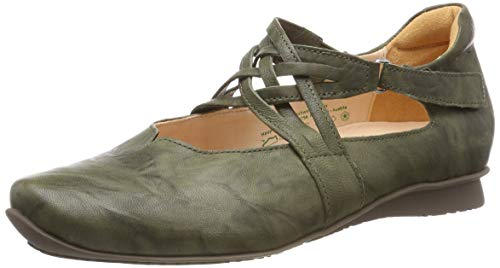 Think! Damen Chilli_484108 Riemchenballerinas, Grün (Salvia 60), 40 EU