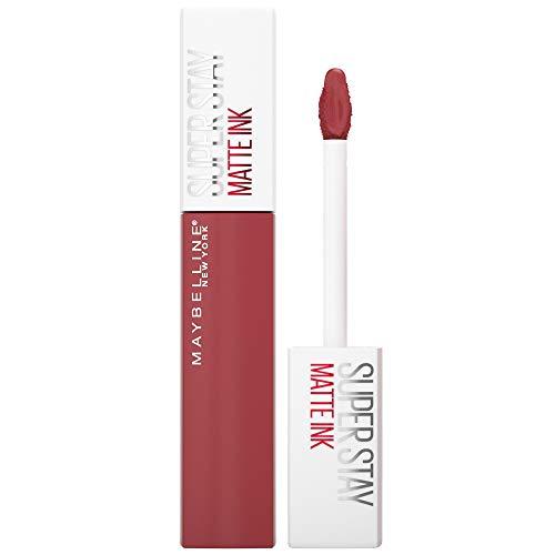 Maybelline New York Super Stay Matte Ink Lippenstift, hochpigmentierte Farbe, flüssige Textur, 16 Stunden Halt, präziser Applikator, Nr. 170 Initiator