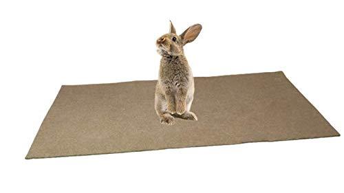 Alfombra comestible para roedor, 100 % cáñamo (800 g/m2) – 1 m x 0,40M – arena de suelo para roedores – Cubre el fondo de la jaula – Gran absorción de humedad y olores