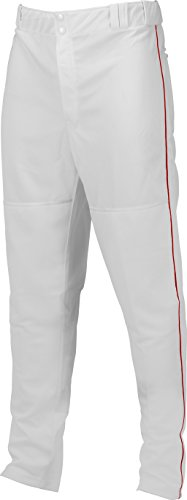 Marucci Youth Elite Double Knit Piped Baseball Pant, White/Red, X-Large