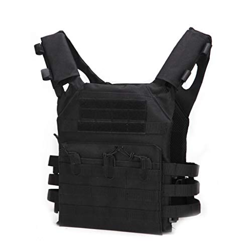 HYYBX-99 Tactische Vest Airsoft Tactische Vest Militaire Kostuum Molle Borstbeschermers Gilet Paintball Vest CS Field Outdoor Modulaire Combat Training Volwassenen Mannen - Afneembare Schouderpad Outdoor